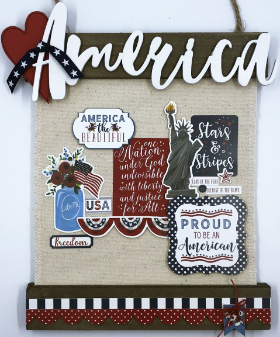 America Canvas Home Decor Kit