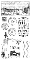 CITYSCAPES - Cling Stamps 1