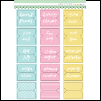 WRITE IT DESIGNS - Soft Colored Tabs