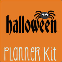 September Halloween Planner Kit