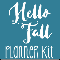 October Hello Fall Planner Kit
