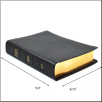 Journaling Bible - Black Leather