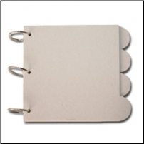 MAYA ROAD - 3 Ring Square Round Tab Chipboard Book